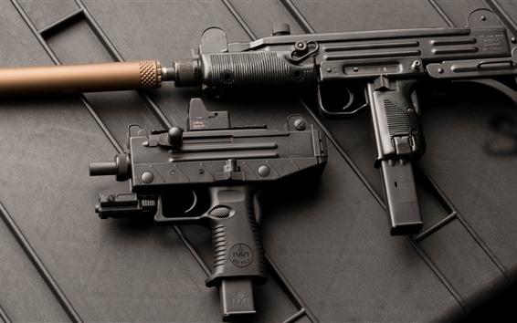 Wallpaper Uzi submachine gun, weapon