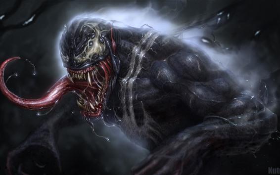 Venom Sabber Marvel Comics 3840x2160 Uhd 4k