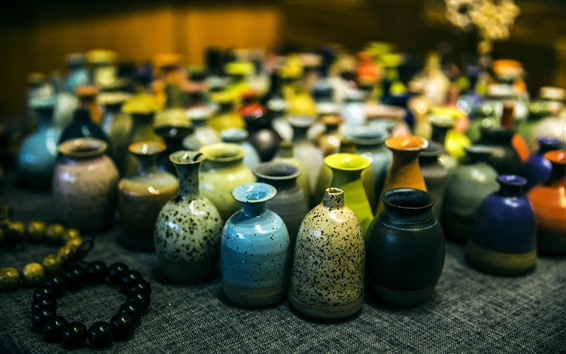Wallpaper Xitang culture, colorful porcelain