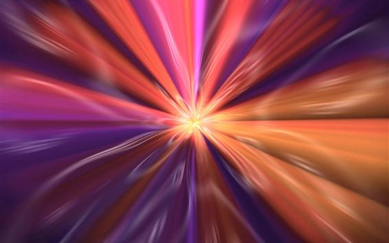 Wallpaper Abstract flower, orange light