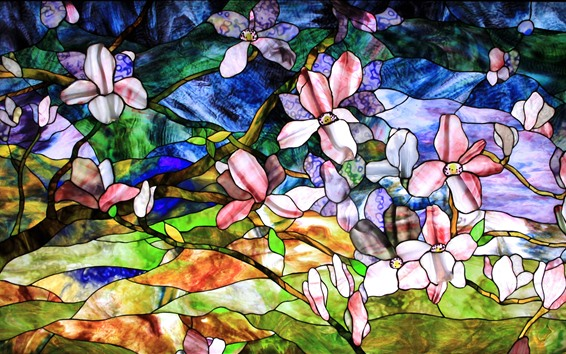 Wallpaper Abstract painting, flowers, colors