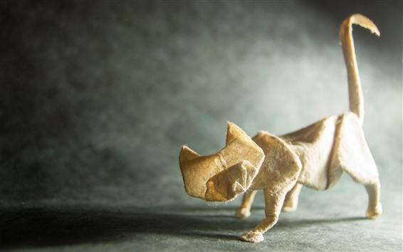 Fond d'écran Art origami, chat