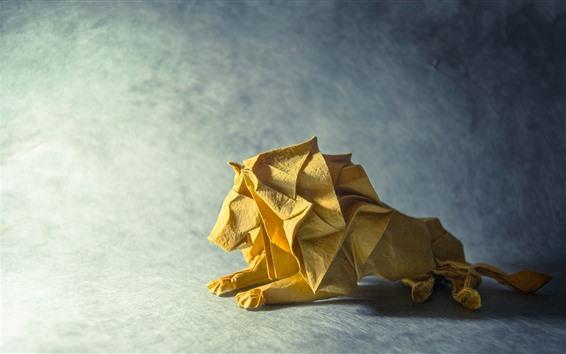 Fond d'écran Origami d'art, lion