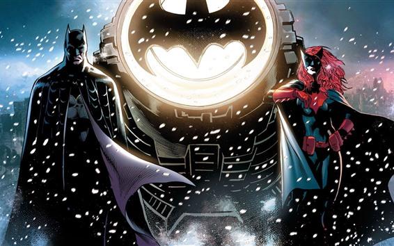 Fondos de pantalla Batman y Catwoman, imagen de arte