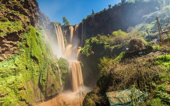 Обои Красивые водопады в Марокко