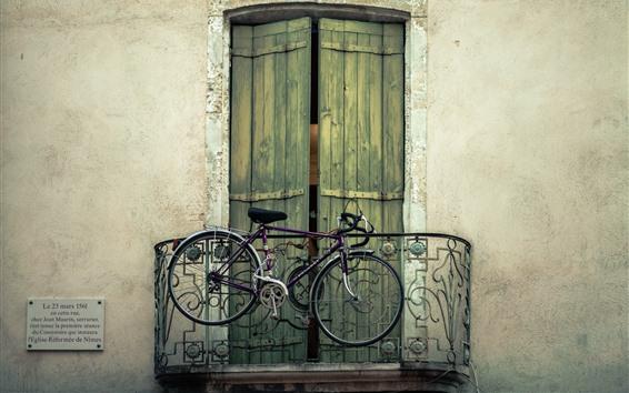 Fond d'écran Vélo, balcon, porte