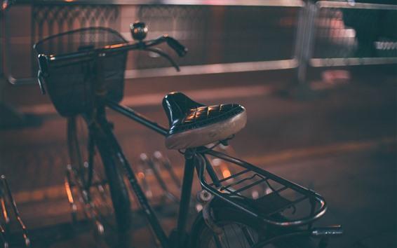 Fondos de pantalla Bicicleta, noche, ciudad, oscuridad.