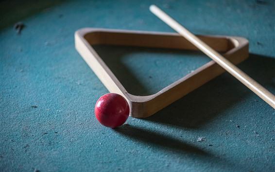 Wallpaper Billiards, red ball