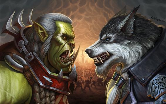 Fondos de pantalla Blizzard, WarCraft, imagen artística, juego clásico.