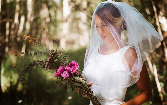 Papéis de Parede Noiva, casamento, rosa