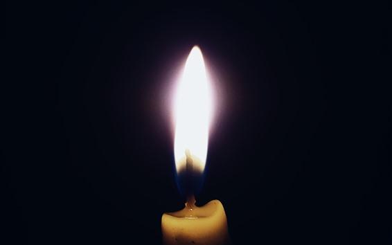 배경 화면 양초, 불꽃, 어둠