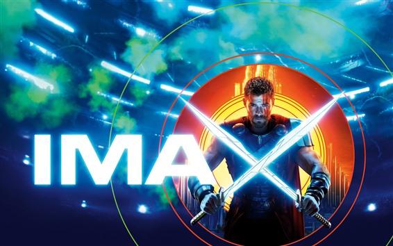 Fond d'écran Chris Hemsworth, Thor 3, deux épées