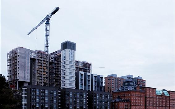Wallpaper City, buildings, sky