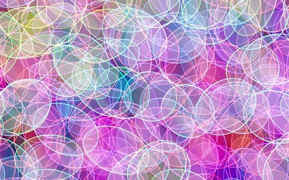 Wallpaper Colorful circles, bright, abstract