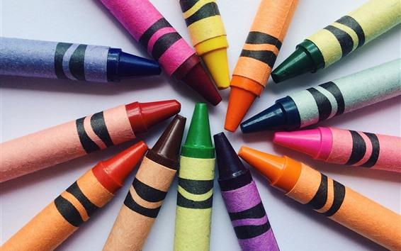 Wallpaper Colorful crayon, circle