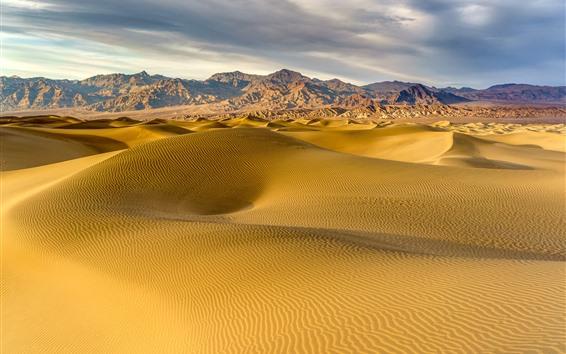 壁紙 砂漠、砂丘、山々、自然の風景