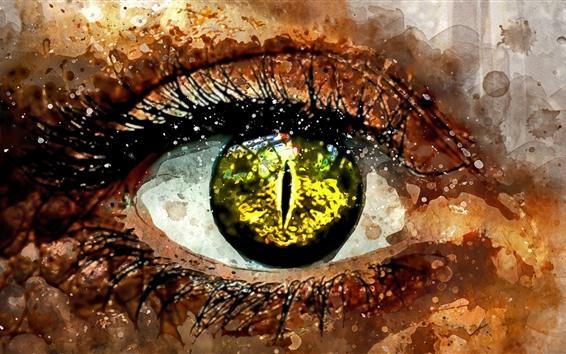 Fond d'écran Oeil, peinture d'art