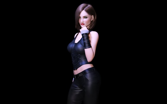 Wallpaper Fantasy girl, sexy, black background