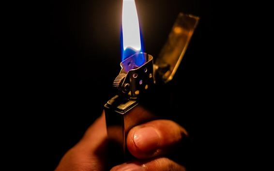 Fond d'écran Flamme, main, briquet
