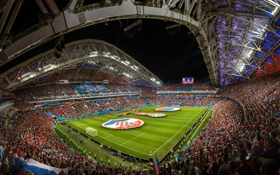 Wallpaper Football stadium, World Cup 2018