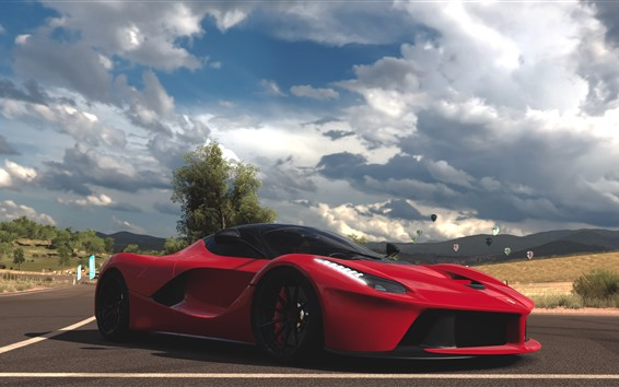 Wallpaper Forza Horizon 3, Ferrari, LaFerrari, red supercar