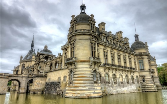 Wallpaper France, castle, lake