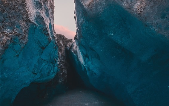 Fondos de pantalla Glaciar, hielo, rocas, frio