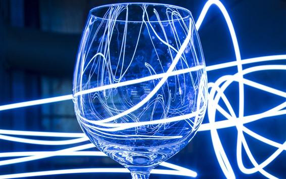 Wallpaper Glass cup, neon light