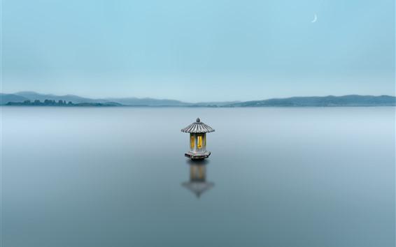 Wallpaper Hangzhou West Lake, fog, morning