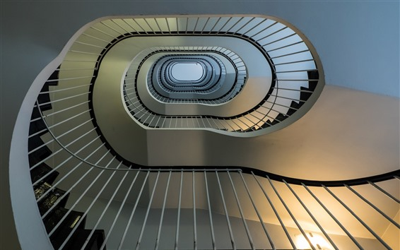 Обои Лестницы, спиральные, высокие