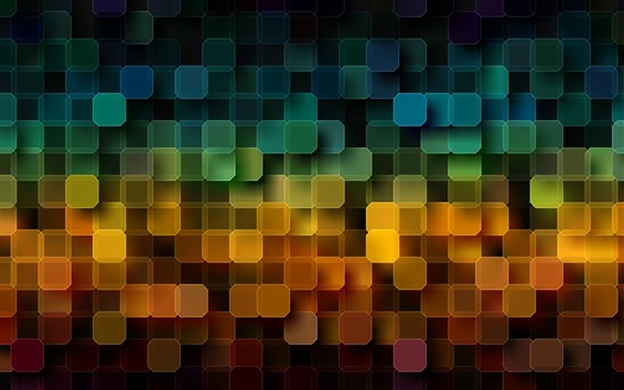 Wallpaper Many squares, colorful, abstract