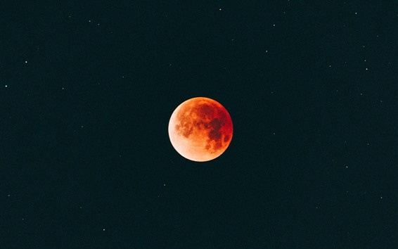 Wallpaper Moon, orange, night, sky
