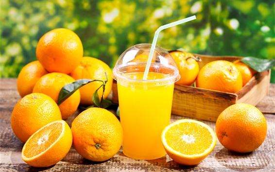 Обои Апельсины, соки, напитки