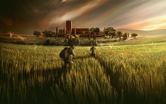 Обои Rainbow Six Siege, поля, солдаты