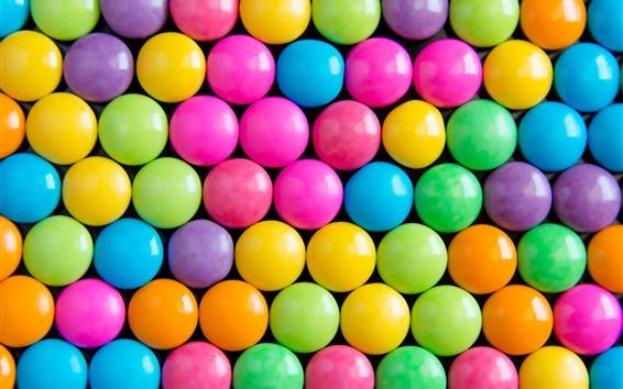 Papéis de Parede Doce de cores do arco-íris, pílulas