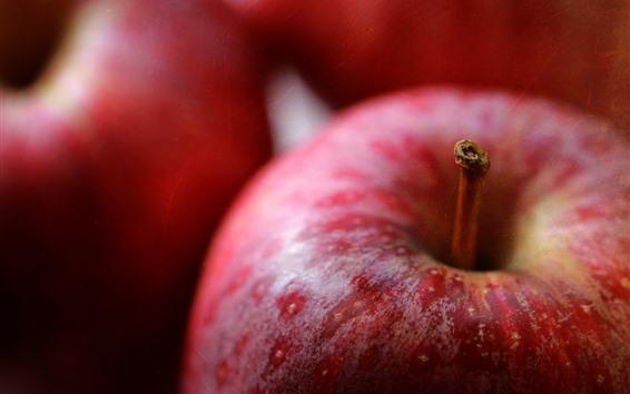Обои Красные яблоки, сладкие фрукты
