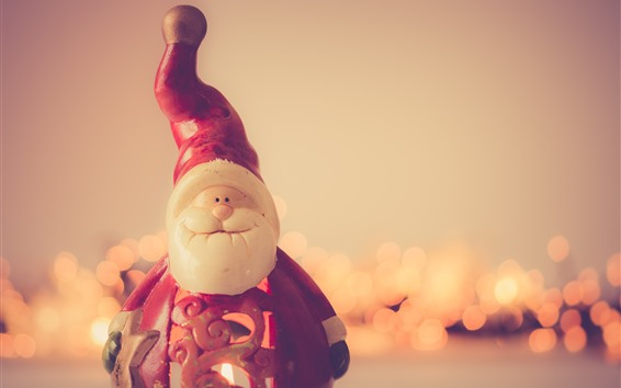Wallpaper Santa Claus toy, New Year