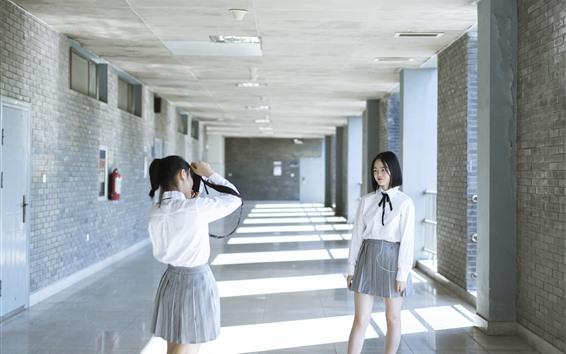 Fond d'écran École filles, photographie