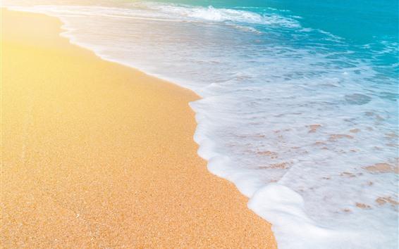 Papéis de Parede Mar, ondas, espuma, praia