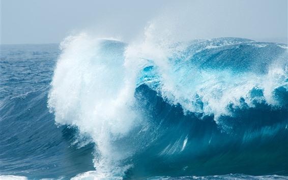 배경 화면 바다 파도, 스플래시, 파랑