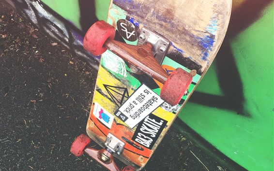 Wallpaper Skateboard, wheels