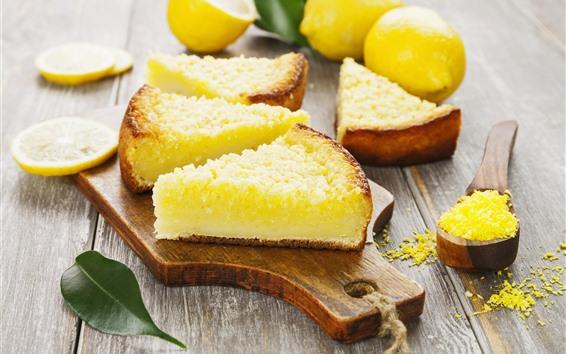 壁紙 ケーキのいくつかのスライス、レモン