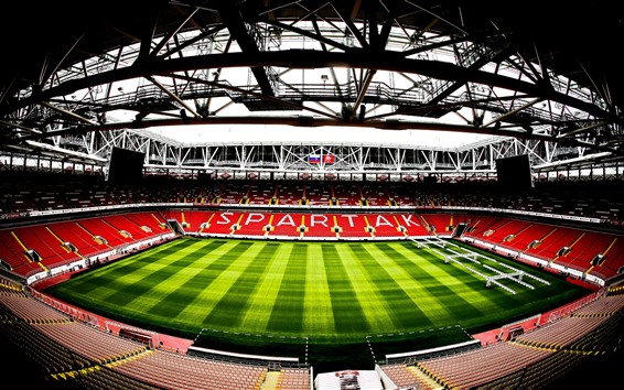 Wallpaper Spartak Stadium, football, Moscow, Russia