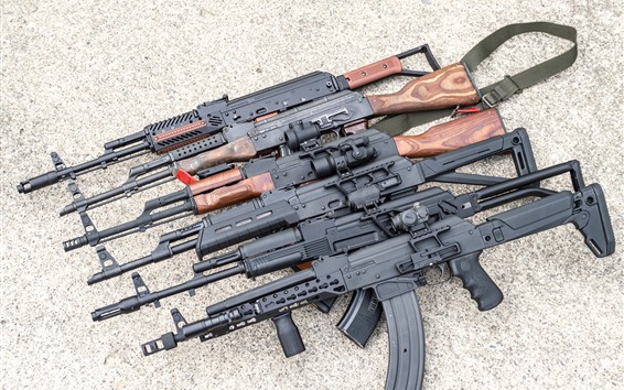 Wallpaper Submachine gun