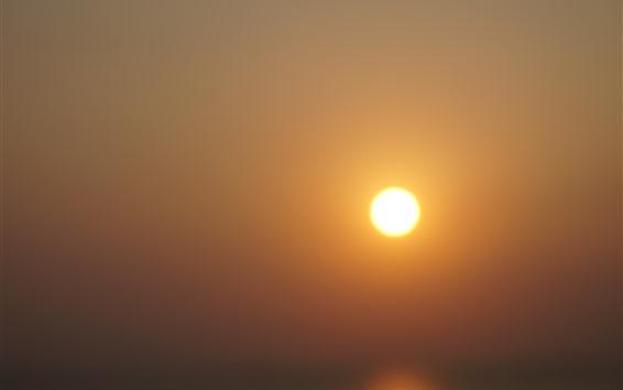 Fond d'écran Coucher de soleil, soleil, ciel chaud
