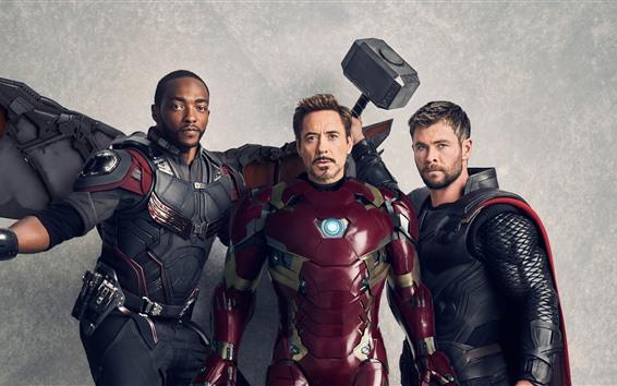 Fond d'écran Super-héros, faucon, homme de fer, thor
