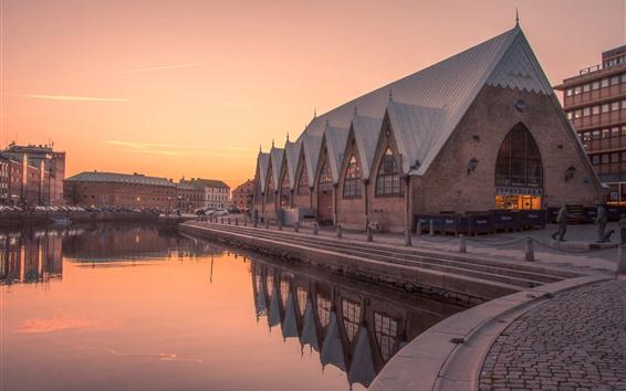 Wallpaper Sweden, Gothenburg, river, city