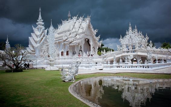 Fond d'écran Thaïlande, Chiang Rai, temple blanc