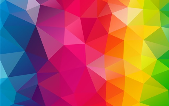 Wallpaper Triangles combination, geometry, rainbow colors