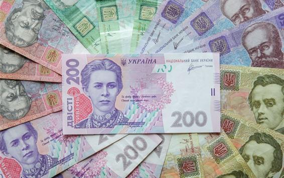 Wallpaper Ukraine paper currency, money